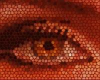 masterwork logo eye mosaic