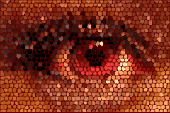 logo eye mosaic